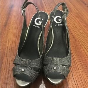 G by Guess sparkly high heels! Only worn once.